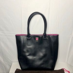 Authentic Kate Spade Black Leather Tote